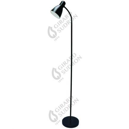 FS Luminaire sur Pied avec Variateur à Pied - Noir + Ampoule LED 12W Dimmable