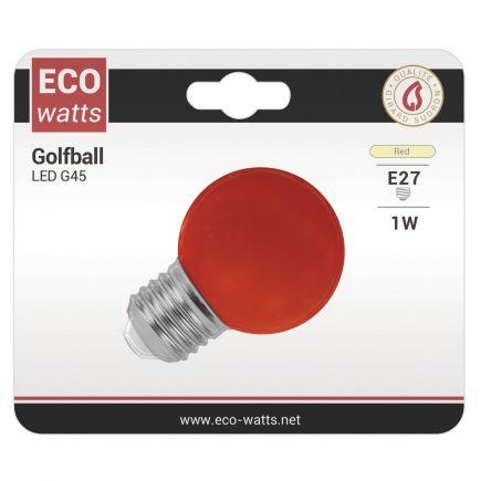 FS EcoWatts - Sphérique LED 1W IP20 E27 Rouge 3125461611361