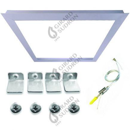 Cadre d'intégration pour Dalle LED 1200x300 Accessoires de suspension inclus