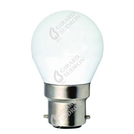 Sphérique G45 LED 330° 5W B22 4000K 410Lm