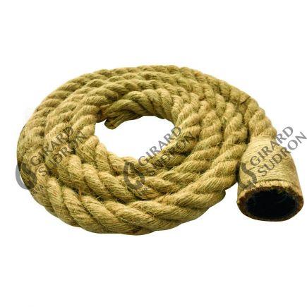 Câble en Chanvre avec douille 2x0,75mm ????25mm 2 Mètres