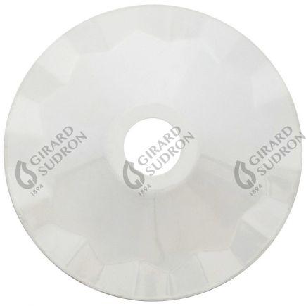 Abat-jour métallique blanc Ø 187 mm avec anneau de fixation en caoutchouc