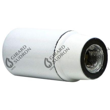 Douille E14 Lisse Culot 15 R.Metal Blanc