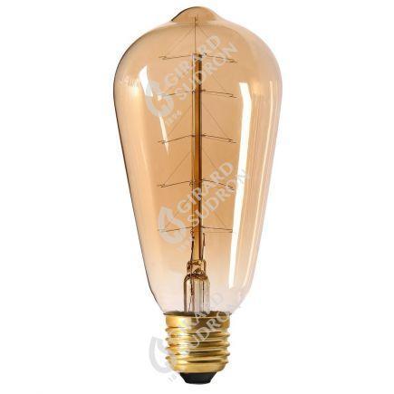 Edison Filament Métallique Sapin 24W E27 2000K Ambre