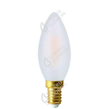 Flamme Lisse C35 Filament LED 5W E14 2700K 500lm Dim. Mat.