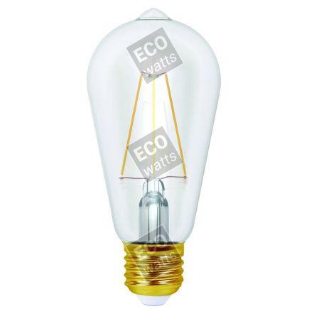 FS Ecowatts - Ecowatts - Edison Filament LED 4W E27 2700K 490Lm Cl. 3125469986683