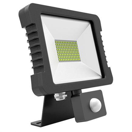 Yonna - Projecteur LED IP65 118x167.5x27.5 10W 4000K 760lm 110° noir PIR