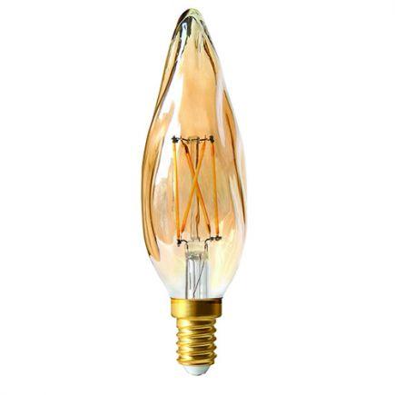 Flamme GS8 Filament LED 4W E14 2500K 280Lm Dim. Amb.