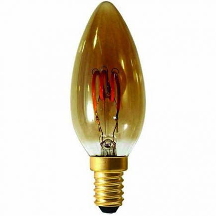 Flamme C35 Filament LED 3 LOOPS 3W E14 90lm Dim. Smoky