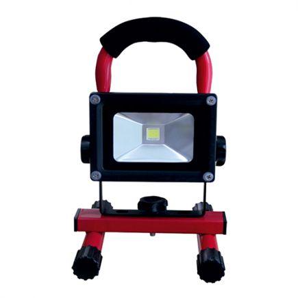 Lassen - Projecteur portatif rechargeableLED IP 65 240x115x167 10W 2700K 600lm 120° rouge