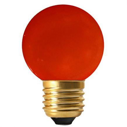 Sphérique LED 1W E27 Rouge