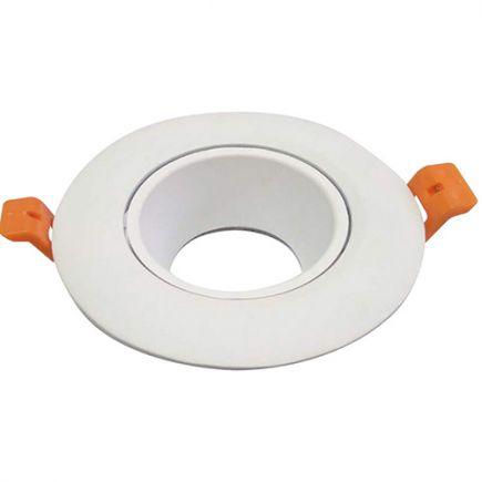 Jocaste - Enjoliveur pour spot encastré Ø105x105 enc.Ø90 blanc