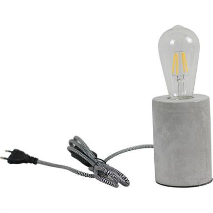 Lampe à poser BETON Cylindre 40W max. Câble textile 1.5m