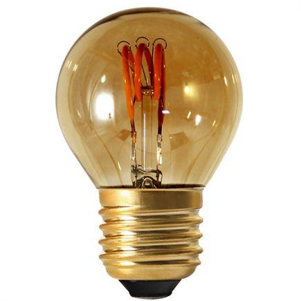 Sphérique G45 Filament LED 3 LOOPS 3W E26 2000K 90lm Dim. Smoky