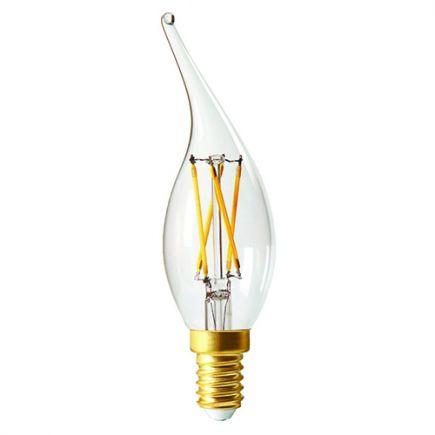 Flamme CV4 Filament LED 4W E14 2700K 320Lm Dim. Cl.