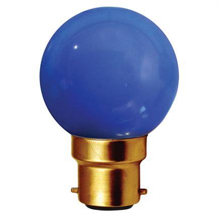 Sphérique LED 1W B22 30lm Bleue