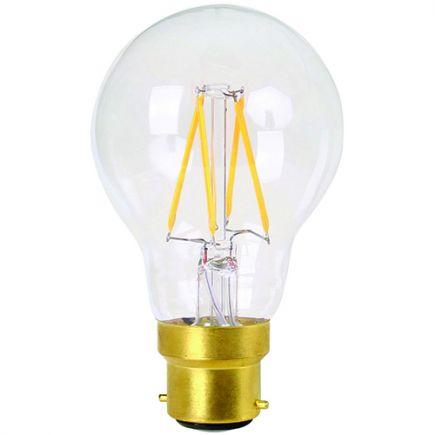 Standard A60 Filament LED 8W B22 2700K 806Lm Dim. Cl.
