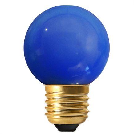 Sphérique LED 1W E27 30lm IP44 Bleue