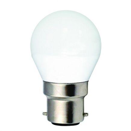 Sphérique G45 LED 330° 5W B22 2700K 400Lm Dim.