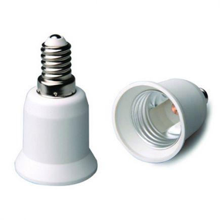 Adaptateur E14-E27 Blanc