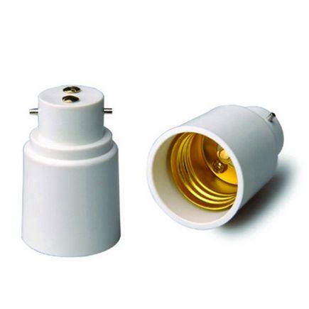 Adaptateur B22-E27 Blanc