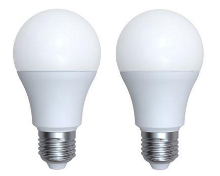 Ecowatts - Lot de 2 Standards A60 LED 270° 9W E27 2700K 806lm