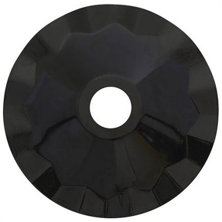 Abat-jour métallique Noir Ø187mm avec anneau de fixation en caoutchouc
