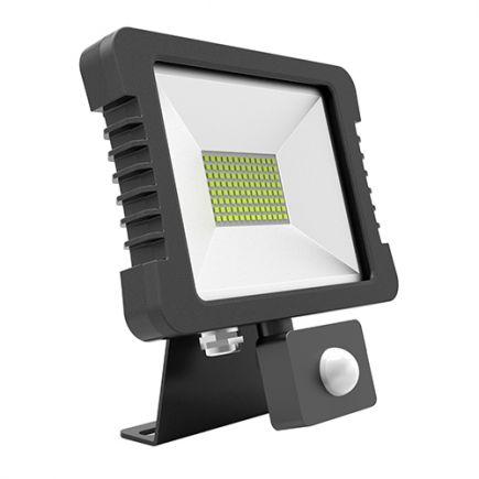 FS Yonna - Projecteur LED IP 65 250x268x51 50W 3000K 3600lm 110° noir PIR