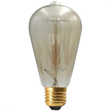 Edison Filament Métallique Droit 24W E27 2000K Ambre