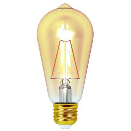 Ecowatts - Edison LED 4W 320lm 2200k E27 Dimmable Ambrée