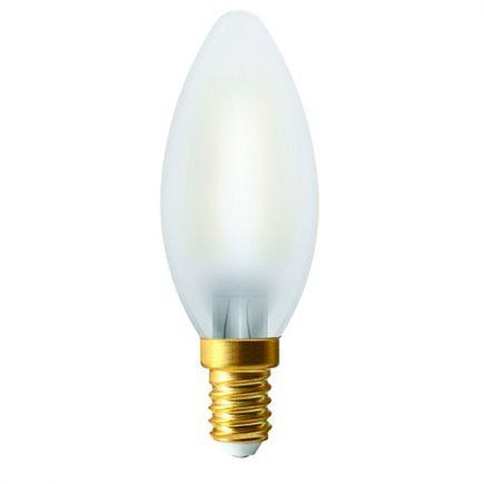 Ecowatts- Flamme Filament LED C35 4W 2700k 440lm E14 Satinée