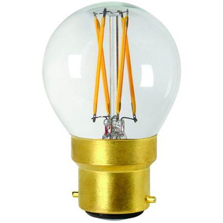 Sphérique G45 Filament LED 4W B22 2700K 350Lm Dim. Cl.