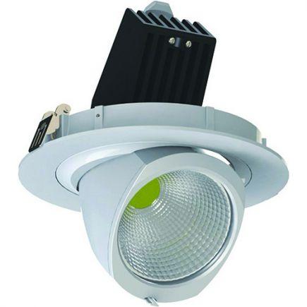 Simba - Spot encastré orientable LED Ø205x147 enc.Ø190 45W 4000K 3700lm 36° blanc