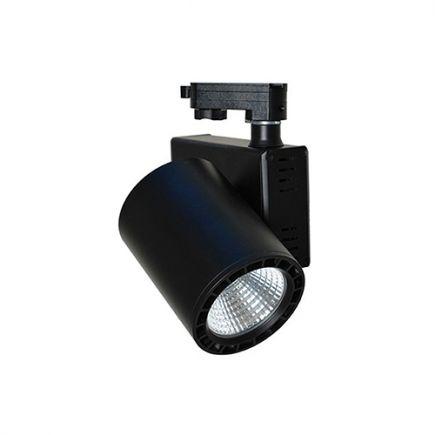 Jacinto - Projecteur sur rail LED Ø99 x 148 20W 4000K 1800lm 36° noir
